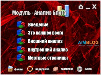 модуль анализ блога