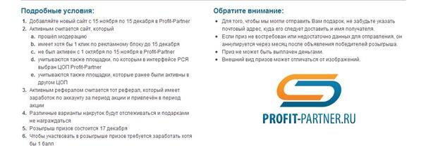 акция Profit-Partner условия